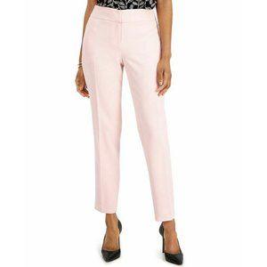 Kasper Womens Pants Pink 18 Straight Leg Lined Mid